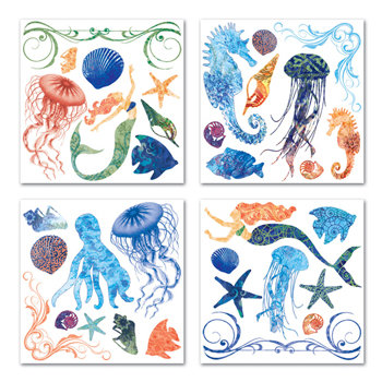 Creative Imaginations - Oceana Collection - Rub Ons Swatch Pack - Oceana