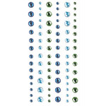 Creative Imaginations - Oceana Collection - Bling - Self Adhesive Rhinestone Pack - Assorted