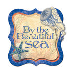 Creative Imaginations - Oceana Collection - Layered Chipboard Sticker - Oceana