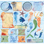 Creative Imaginations - Oceana Collection - 12 x 12 Cardstock Stickers - Oceana