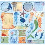 Creative Imaginations - Oceana Collection - 12 x 12 Cardstock Stickers - Oceana