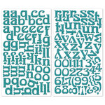 Creative Imaginations - Oceana Collection - Glittered Foam Alphabet Stickers - Blue