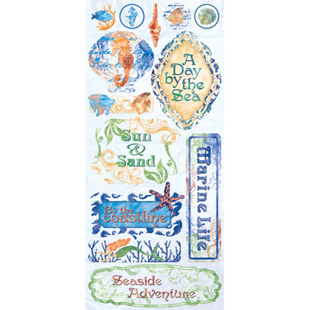 Creative Imaginations - Oceana Collection - Clear Jumbo Stickers - Oceana