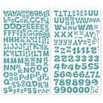 Creative Imaginations - It's A Zoo Collection - Glittered Foam Alphabet Stickers - Blue