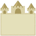 Creative Imaginations - Beach Days Collection - 12 x 12 Die Cut Paper - Sand Castle