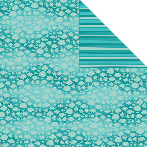 Creative Imaginations - Beach Days Collection - 12 x 12 Double Sided Paper - Seashells