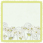 Creative Imaginations - Loolah Collection - 12 x 12 Die Cut Stitched Paper - Dancing Daisies