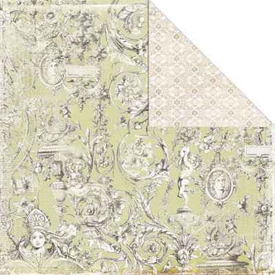 Creative Imaginations - Beloved Collection - 12 x 12 Double Sided Paper - Baroque