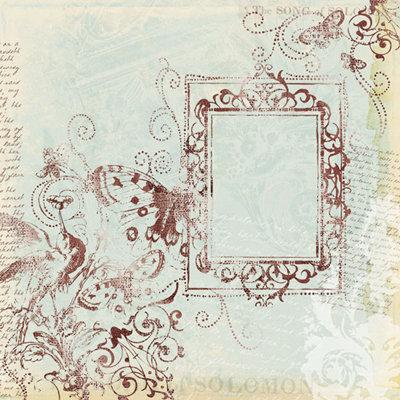 Creative Imaginations - Beloved Collection - 12 x 12 Foil Paper - Flutter