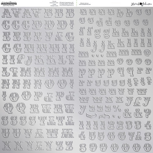 Creative Imaginations - Embossed Foil Alphabet Stickers - Silver