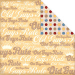 Creative Imaginations - Old Guys Rule Birthday Collection - 12 x 12 Double Sided Paper - Old Guys Logo