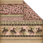 Creative Imaginations - Cowgirl Collection - 12 x 12 Double Sided Paper - Cowgirl Borders