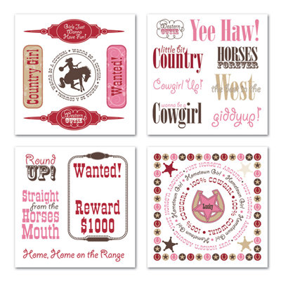 Creative Imaginations - Cowgirl Collection - Rub Ons Swatch Pack - Cowgirl