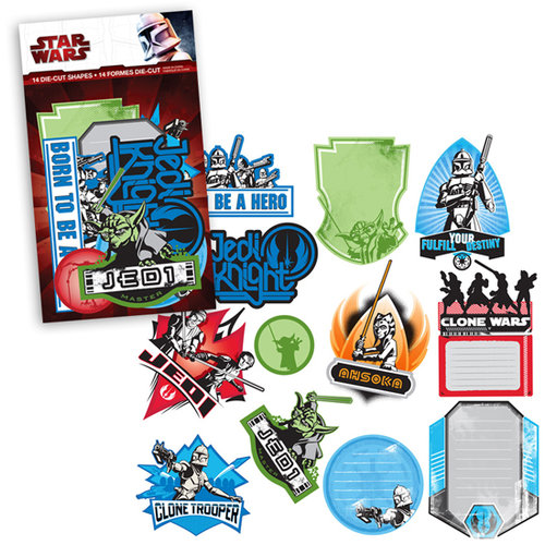 Creative Imaginations - Star Wars Clone Wars Collection - Die Cut Pieces - Clone Wars Shapes, CLEARANCE