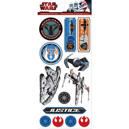 Creative Imaginations - Star Wars Collection - Chipboard Stickers
