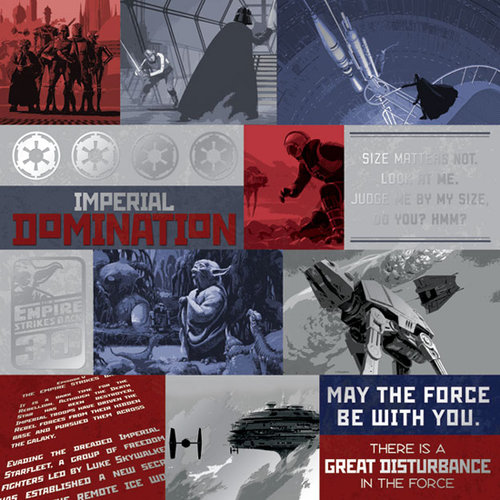 Creative Imaginations - Star Wars Empire Strikes Back Collection - 12 x 12 Foil Paper - 30th Anniversary