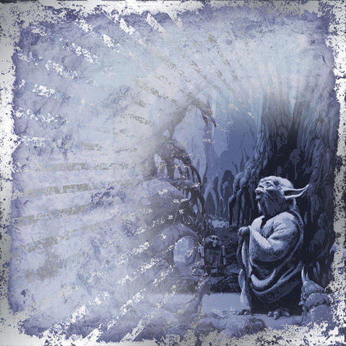 Creative Imaginations - Star Wars Empire Strikes Back Collection - 12 x 12 Foil Paper - Yoda