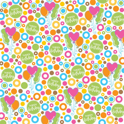 Creative Imaginations - Birthday Bliss Collection - 12 x 12 Glitter Paper - Bliss Balloons, BRAND NEW - click to enlarge