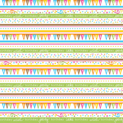 Creative Imaginations - Birthday Bliss Collection - 12 x 12 Glitter Paper - Bliss Stripes