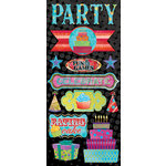 Creative Imaginations - Melange - Celebrate Me Collection - Jumbo Cardstock Stickers - Celebrate Me
