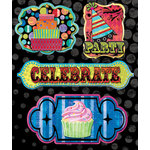 Creative Imaginations - Melange - Celebrate Me Collection - Layered Cardstock Stickers - Celebrate Me