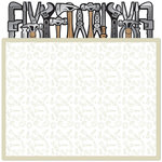 Creative Imaginations - Be A Man Collection - 12 x 12 Die Cut Foil Paper - Tool Box, CLEARANCE