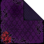 Creative Imaginations - Breathless Collection - 12 x 12 Double Sided Paper - Midnight Garden