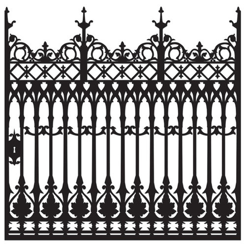 Creative Imaginations - Breathless Collection - 12 x 12 Die Cut Paper - Iron Gate