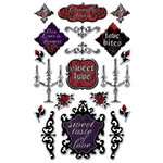 Creative Imaginations - Breathless Collection - Clear Foil Epoxy Stickers - Breathless