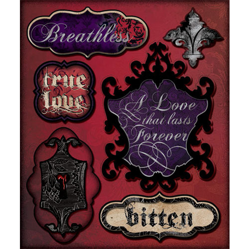 Creative Imaginations - Breathless Collection - Layered Cardstock Stickers with Foil Accents