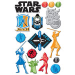 Creative Imaginations - Star Wars Clone Wars Collection - Epoxy Stickers - The Clone Wars Icons