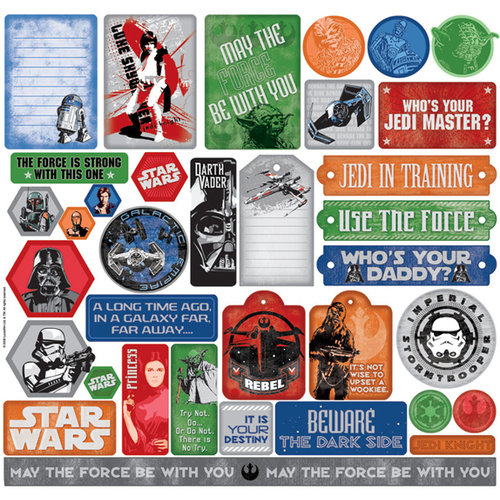 Creative Imaginations - Star Wars Collection - 12 x 12 Cardstock Stickers - Star Wars