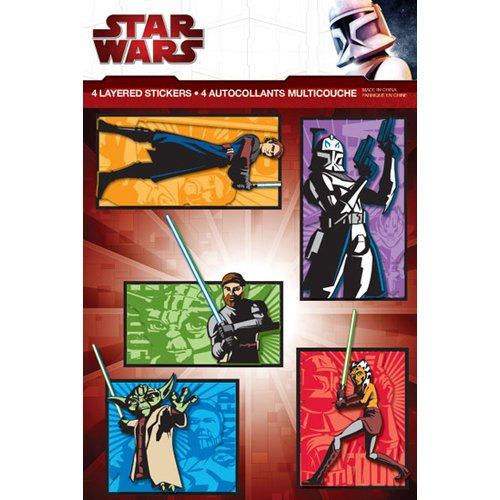 Creative Imaginations - Star Wars Clone Wars Collection - Layered Cardstock Stickers - Clone Wars