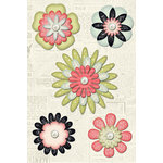 Creative Imaginations - Loolah Collection - Flower Brads - Pearl, CLEARANCE