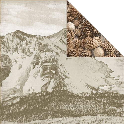 Creative Imaginations - Great Outdoors Collection - 12 x 12 Double Sided Paper - Mountains