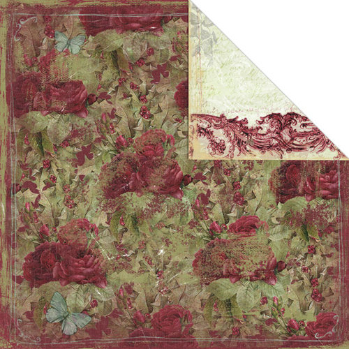 Creative Imaginations - Night Divine Collection - Christmas - 12 x 12 Double Sided Paper - Winter Rose