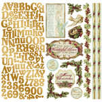 Creative Imaginations - Night Divine Collection - Christmas - 12 x 12 Cardstock Stickers - Night Divine, CLEARANCE