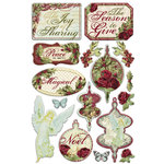 Creative Imaginations - Night Divine Collection - Christmas - Epoxy Stickers