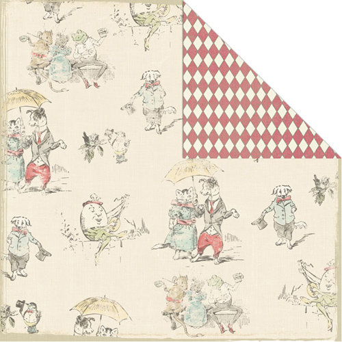 Creative Imaginations - Lullaby Boy Collection - 12 x 12 Double Sided Paper - Nursery