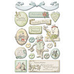 Creative Imaginations - Lullaby Boy Collection - Epoxy Stickers