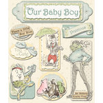 Creative Imaginations - Lullaby Boy Collection - Layered Cardstock Stickers - Lullaby Boy