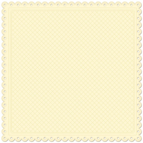 Creative Imaginations - Lullaby Girl Collection - 12 x 12 Embossed Die Cut Paper - Sunshine Quilt