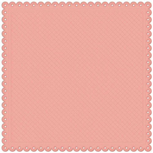 Creative Imaginations - Lullaby Girl Collection - 12 x 12 Embossed Die Cut Paper - Blush Quilt