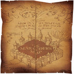 Creative Imaginations - Harry Potter Collection - 12 x 12 Die Cut Paper - Mauraders Map