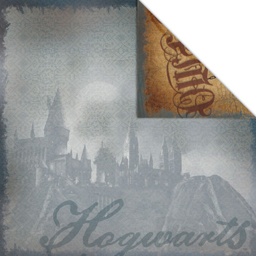 Creative Imaginations - Harry Potter Collection - 12 x 12 Double Sided Paper - Hogwarts