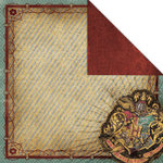 Creative Imaginations - Harry Potter Collection - 12 x 12 Double Sided Paper - Hogwarts Crest