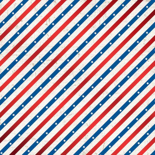 Creative Imaginations - Pride Collection - 12 x 12 Foil Paper - Americana
