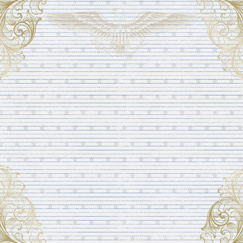 Creative Imaginations - Pride Collection - 12 x 12 Foil Paper - Gold Eagle