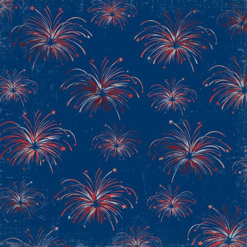 Creative Imaginations - Pride Collection - 12 x 12 Foil Paper - Fireworks
