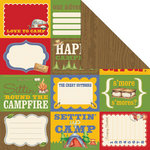 Creative Imaginations - Happy Camper Collection - 12 x 12 Double Sided Paper - Roughin It
